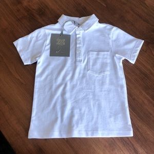 NWT Boys White Cotton Toddler Polo